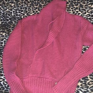 American eagle fuchsia sweater